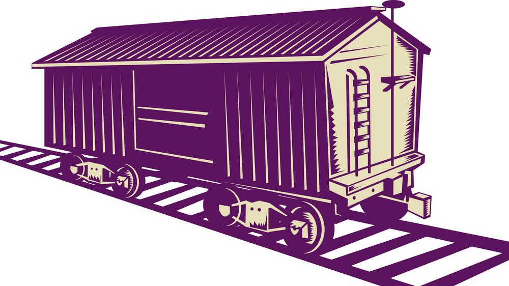 Boxcar Of A Cargo Train