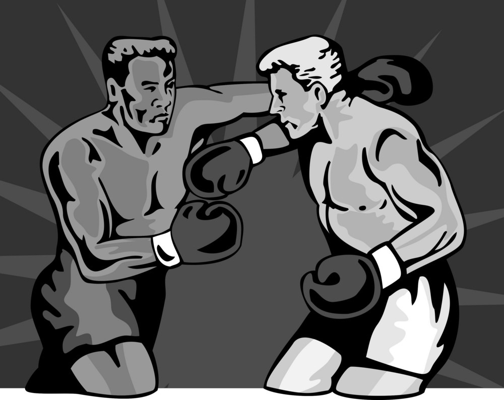 Boxer Boxing Knockout Punch Retro