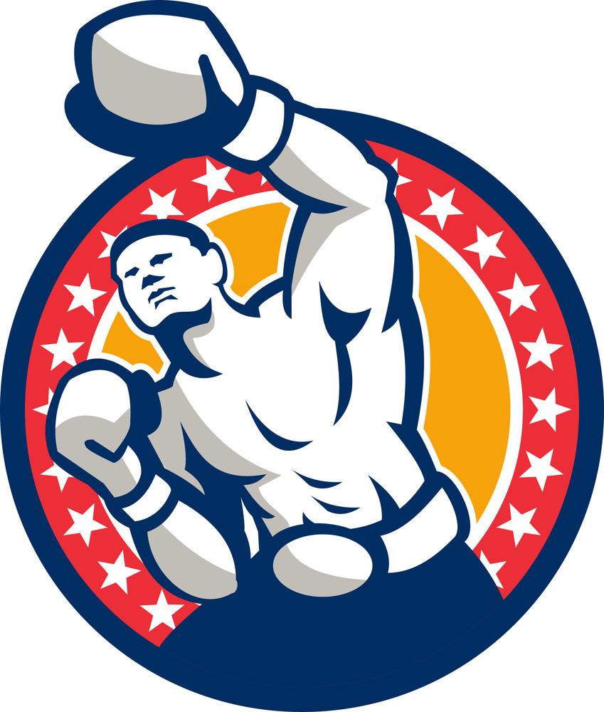 Boxer Boxing Punching Jabbing Retro