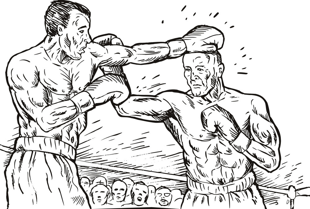 Boxer Connecting Knockout Punch