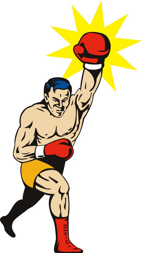 Boxer Jabbing Punching