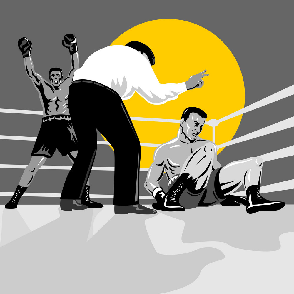 Boxer Knockout Referee Counting