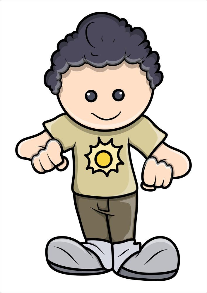 Boy Ready To Start Again - Vector Illustrations
