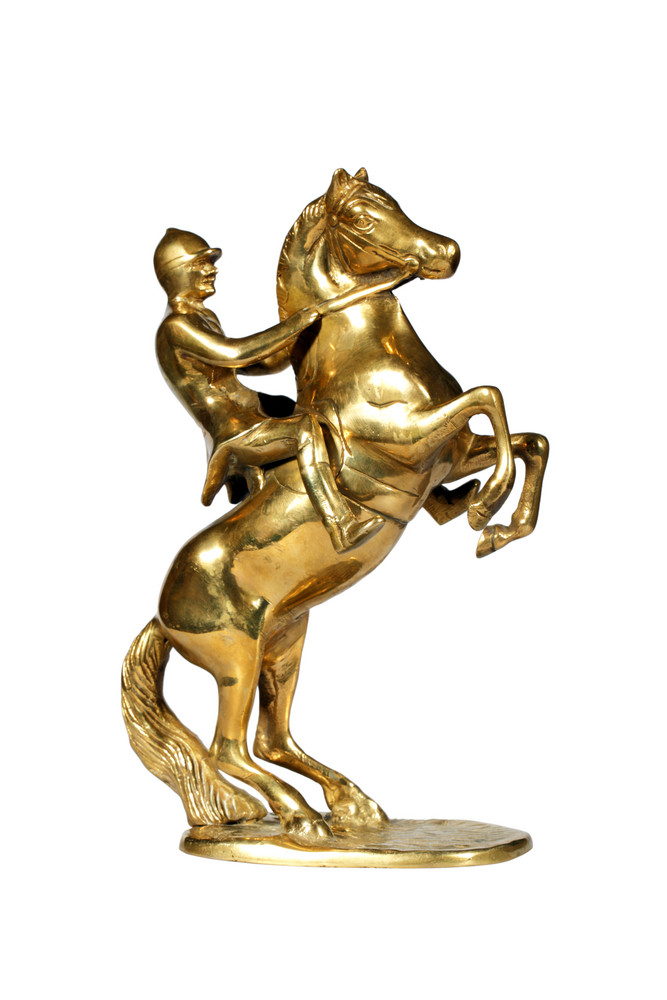 Brass Statue Of The Jockey On A Horse
