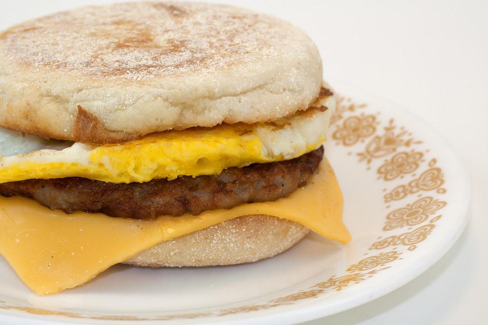 Breakfast Sandwich On Plate