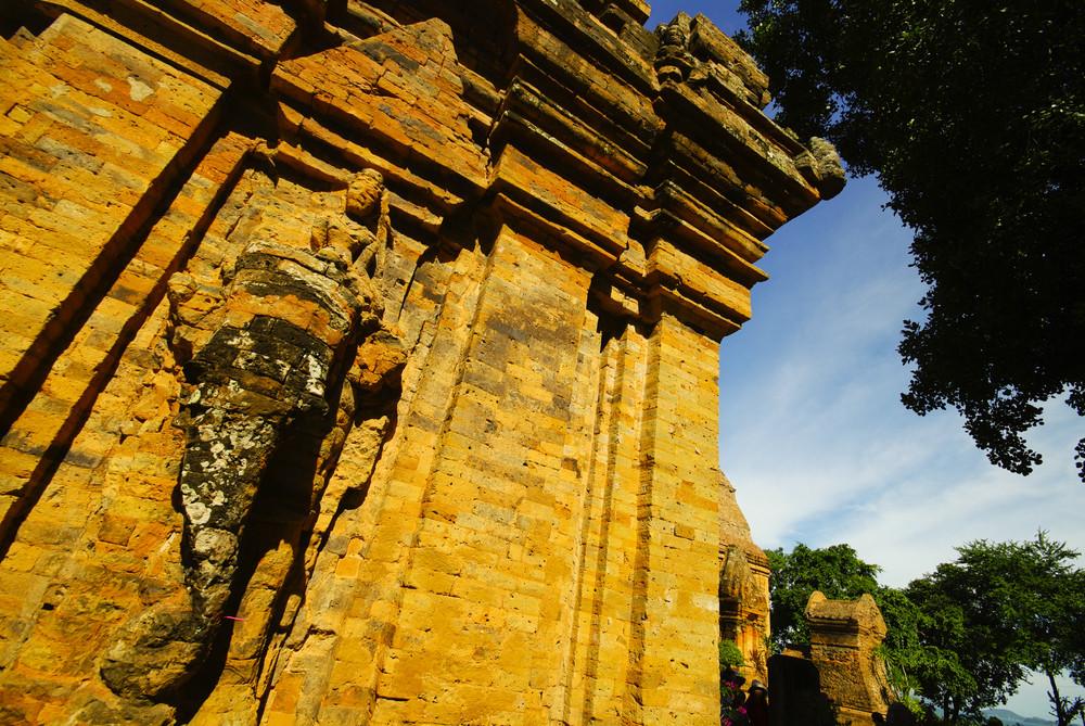 Brick cham towers in Nha Trang, Vietnam