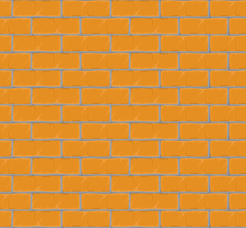 Brick Wall. Seamless Vector Texture.
