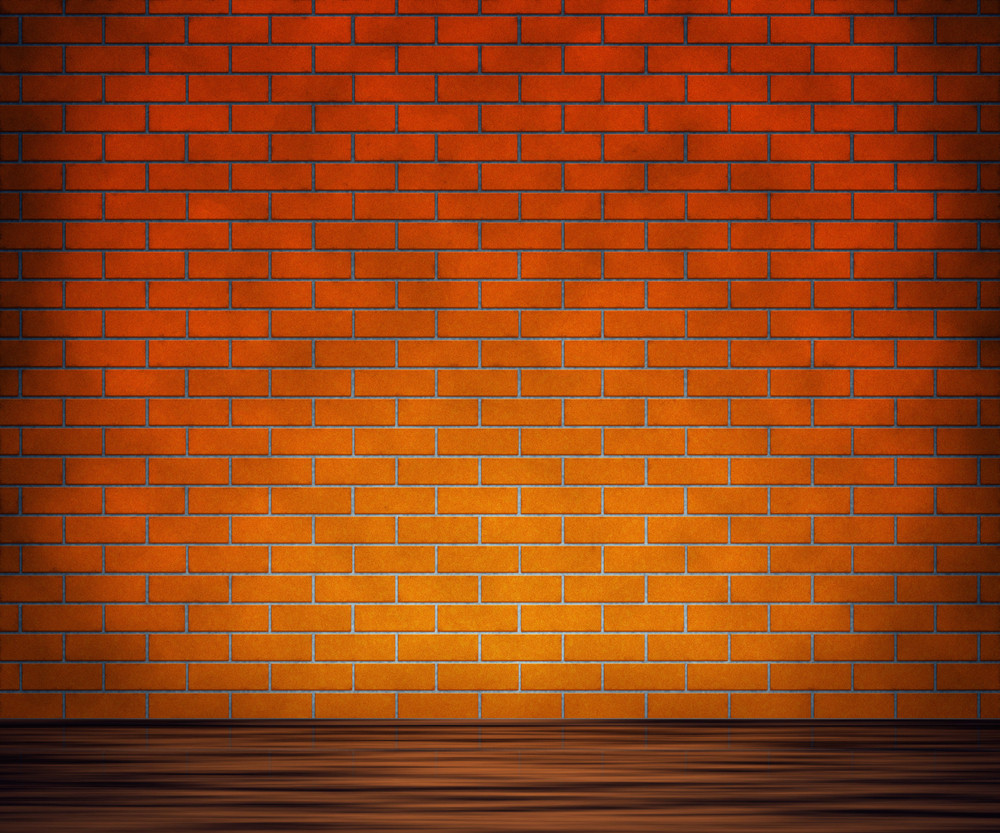 Brick Wall With Wooden Floor Background