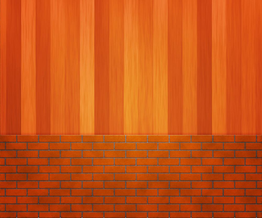 Brick Wooden Wall