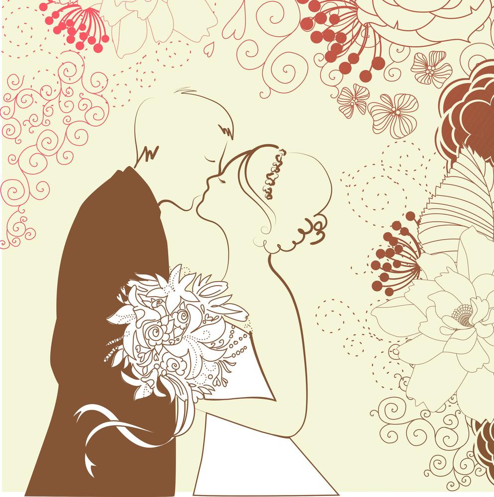 Bride And Groom. Wedding Background