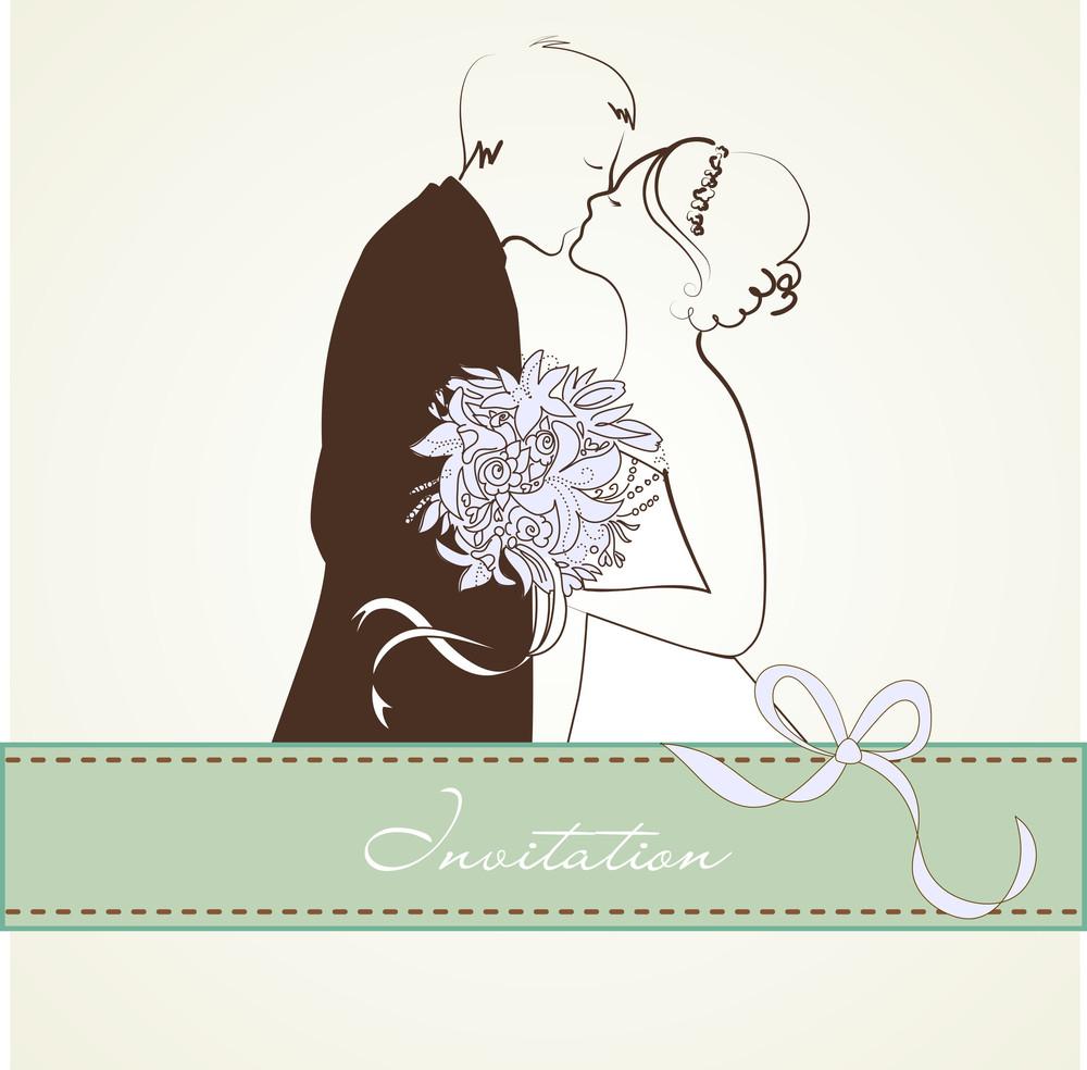 Noiva e noivo. Fundo do casamento