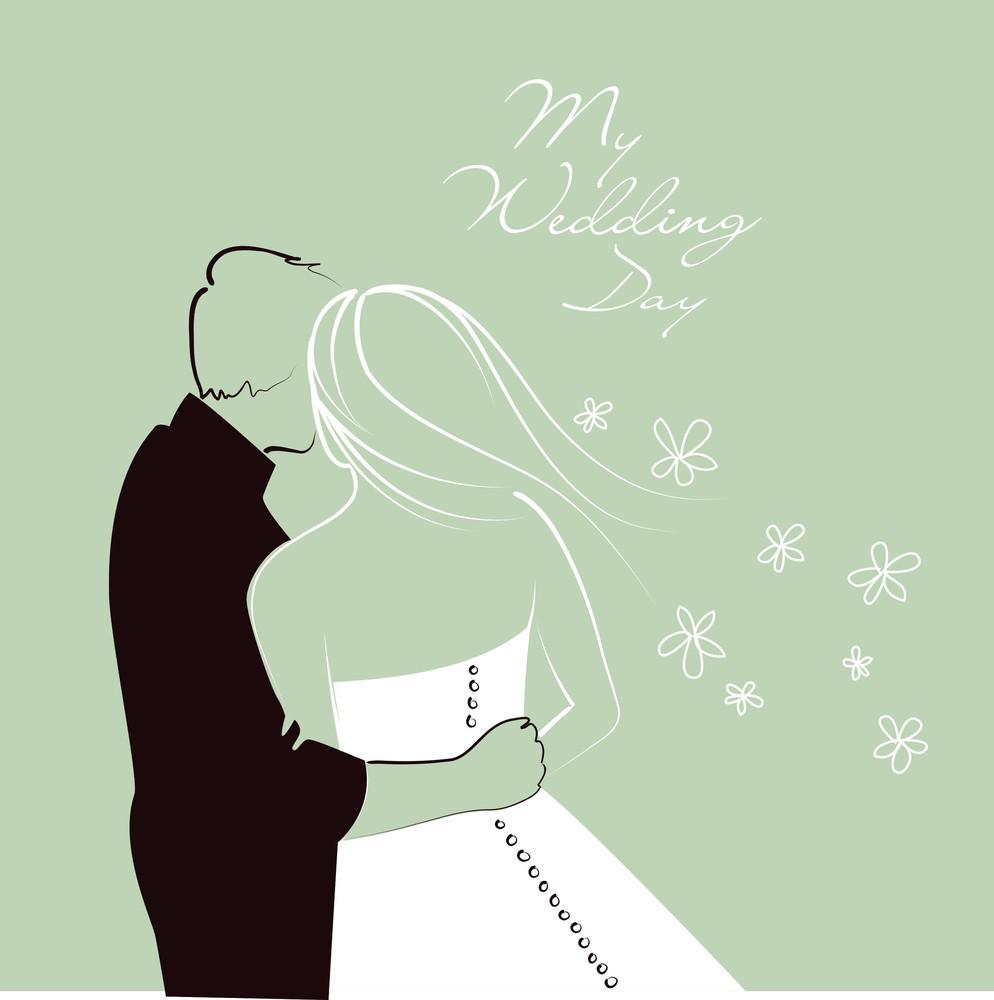 Bride And Groom. Wedding Background-