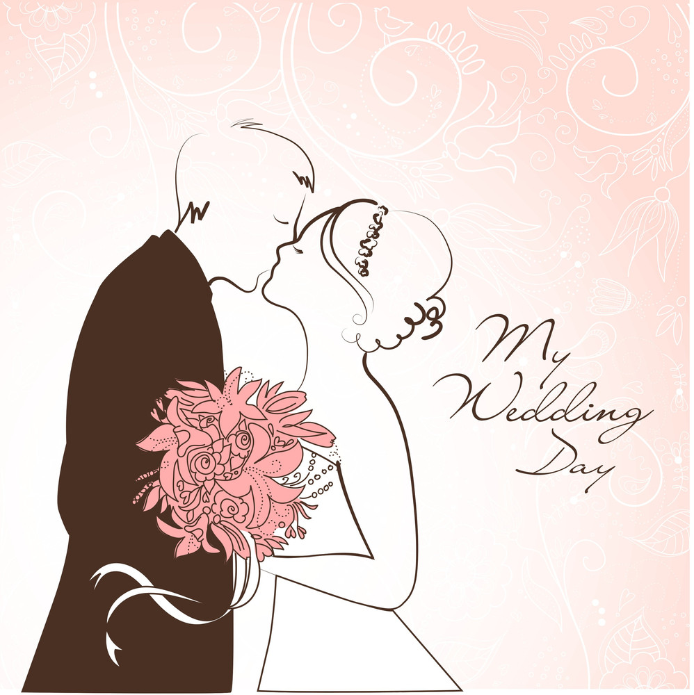 Bride And Groom Wedding Background Royalty Free Stock Image