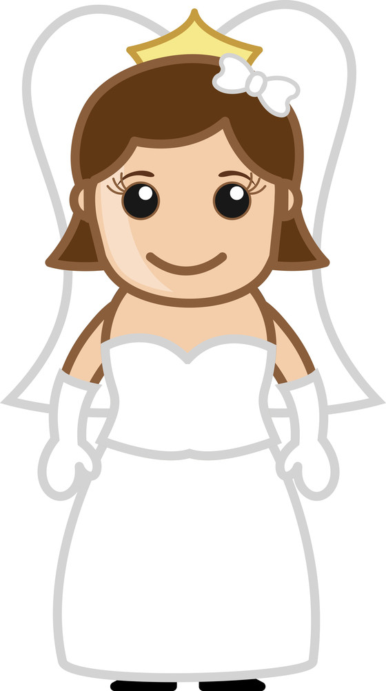 Bride - Vector Character Cartoon Illustration Royalty-Free Stock