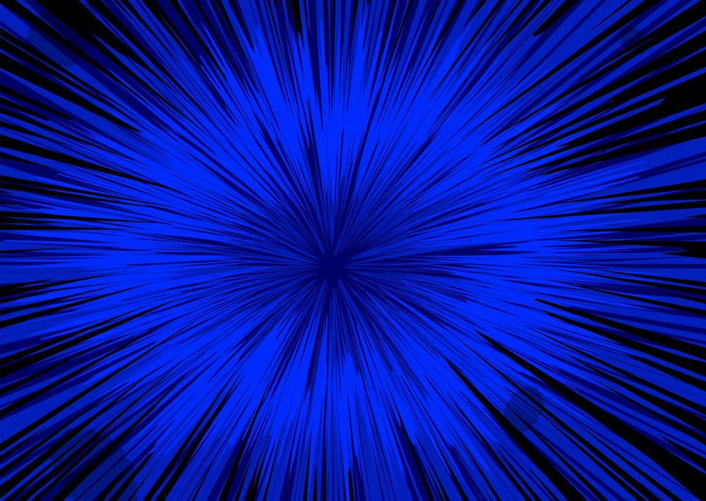 Bright Blue Sunburst Background