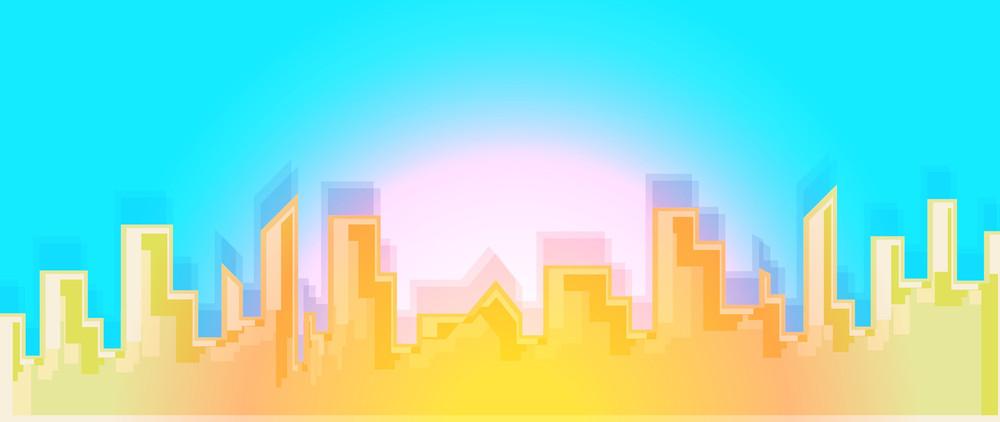 Bright Cityscape Buildings