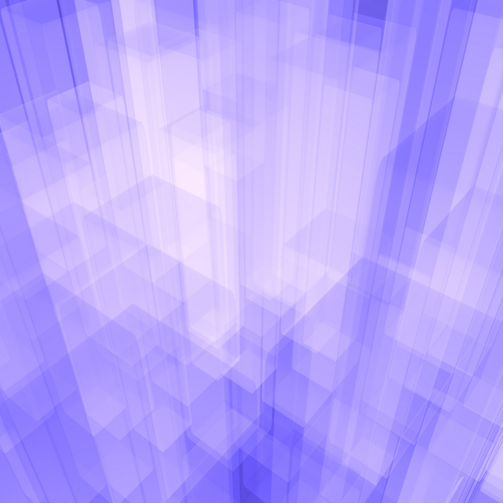 Bright Glowing Blue Glass Background With Artistic Cubes Or Squares
