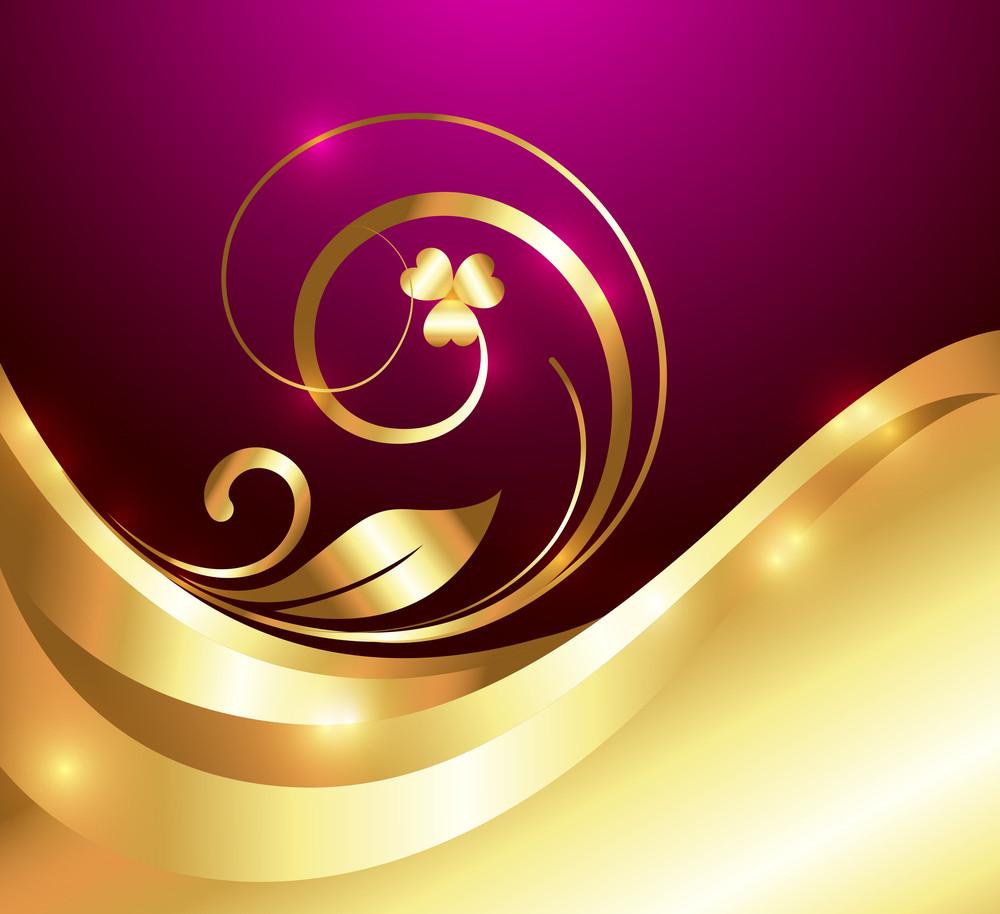 Bright Golden Flora Art