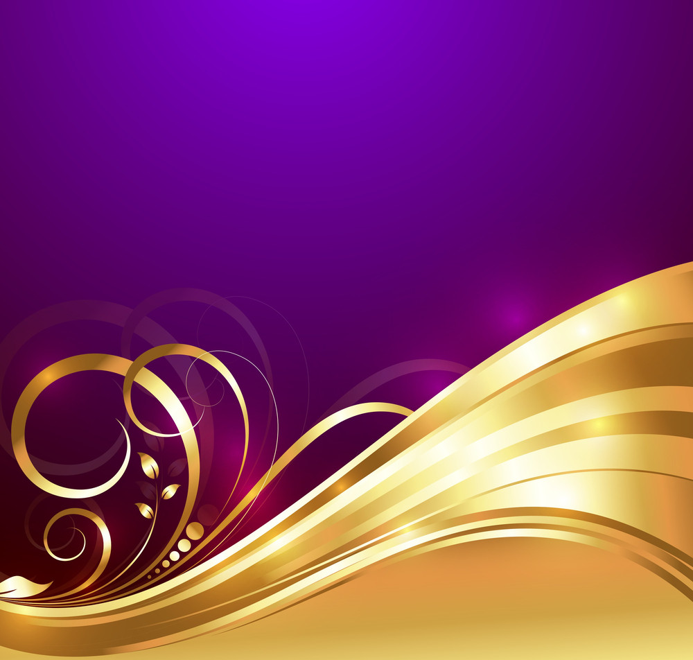 Bright Golden Flourish Background
