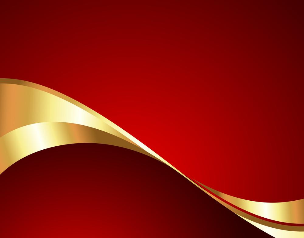 Bright Golden Wave Banner