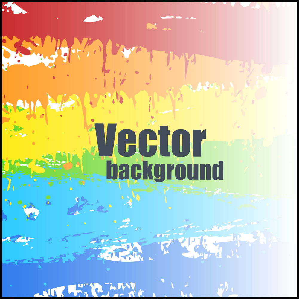 Bright Rainbow Background