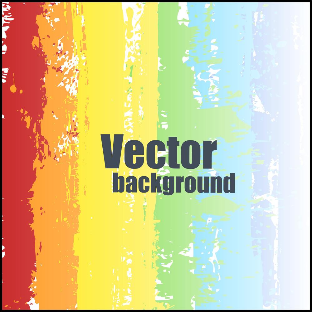 Bright Rainbow Striped Background