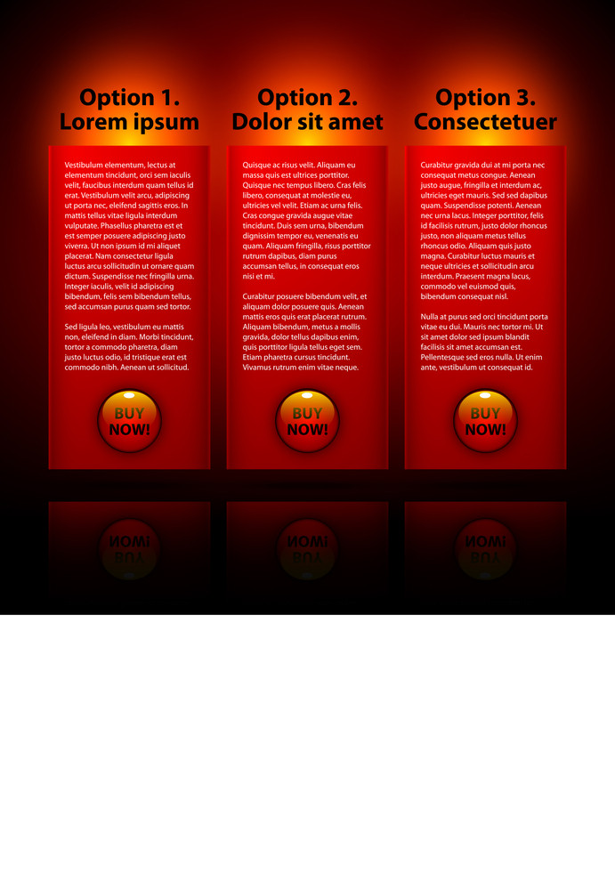 Bright Red Banners For Advertising Or Presentations.