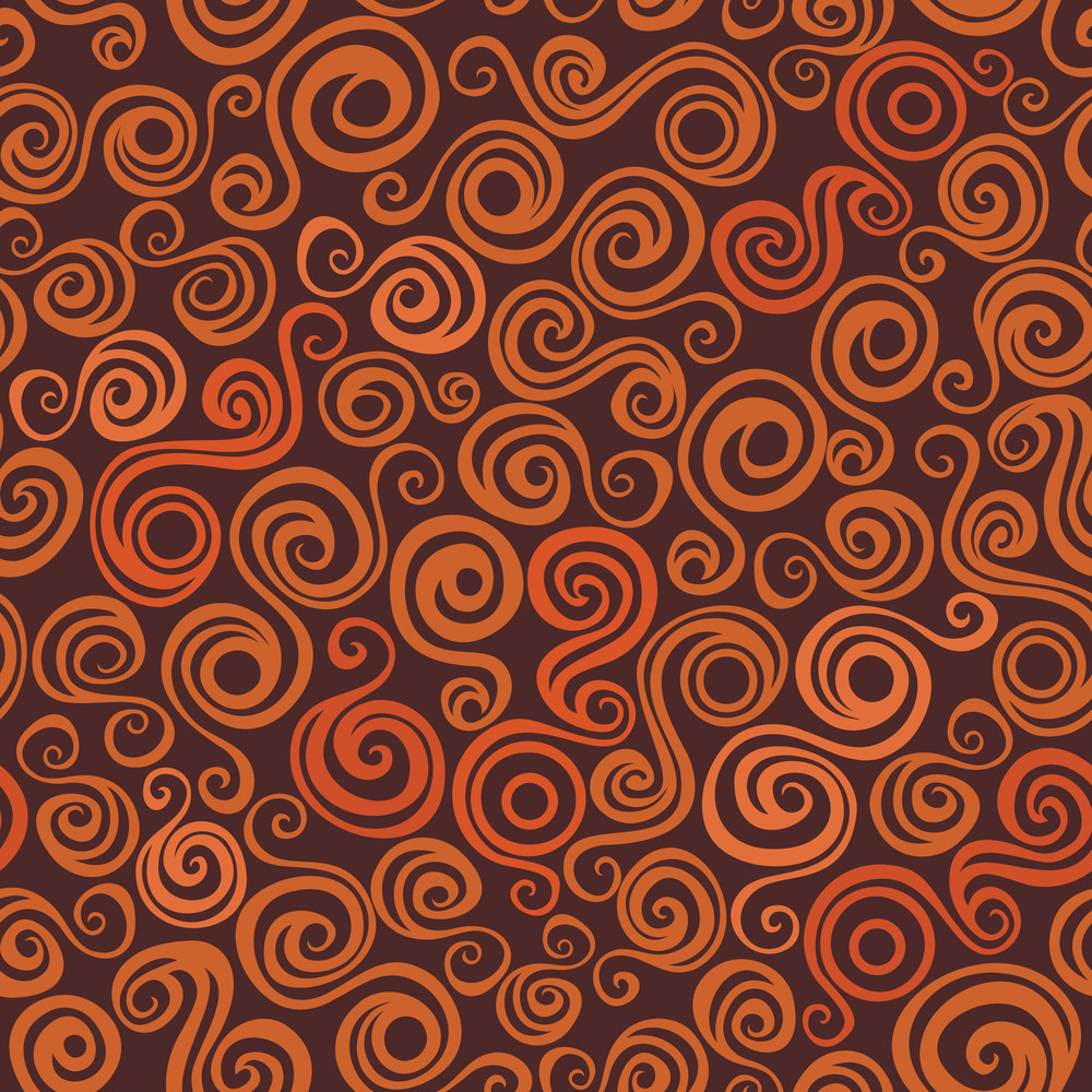 Bright Seamless Texture With Curly Elements
