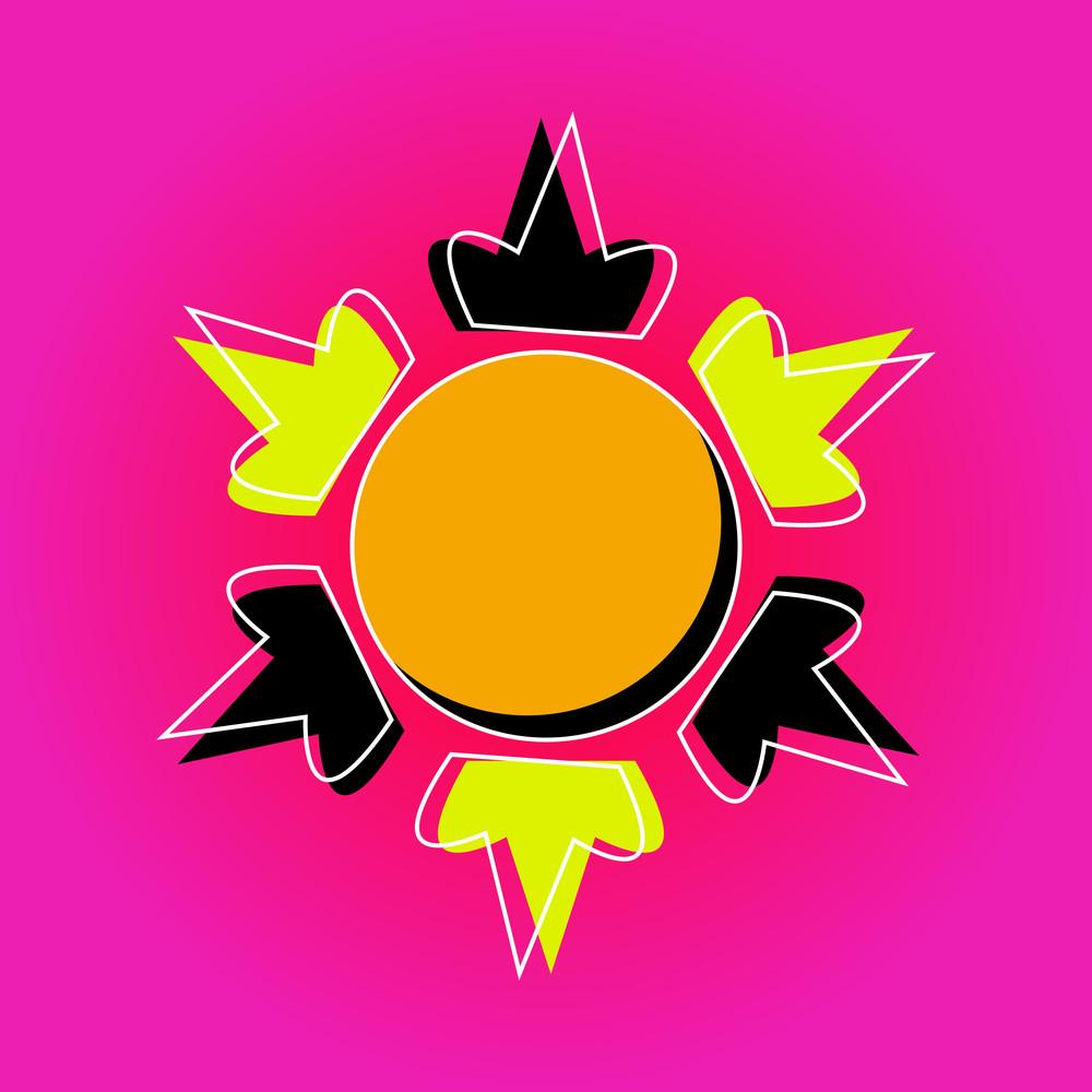 Bright Sun Design Element