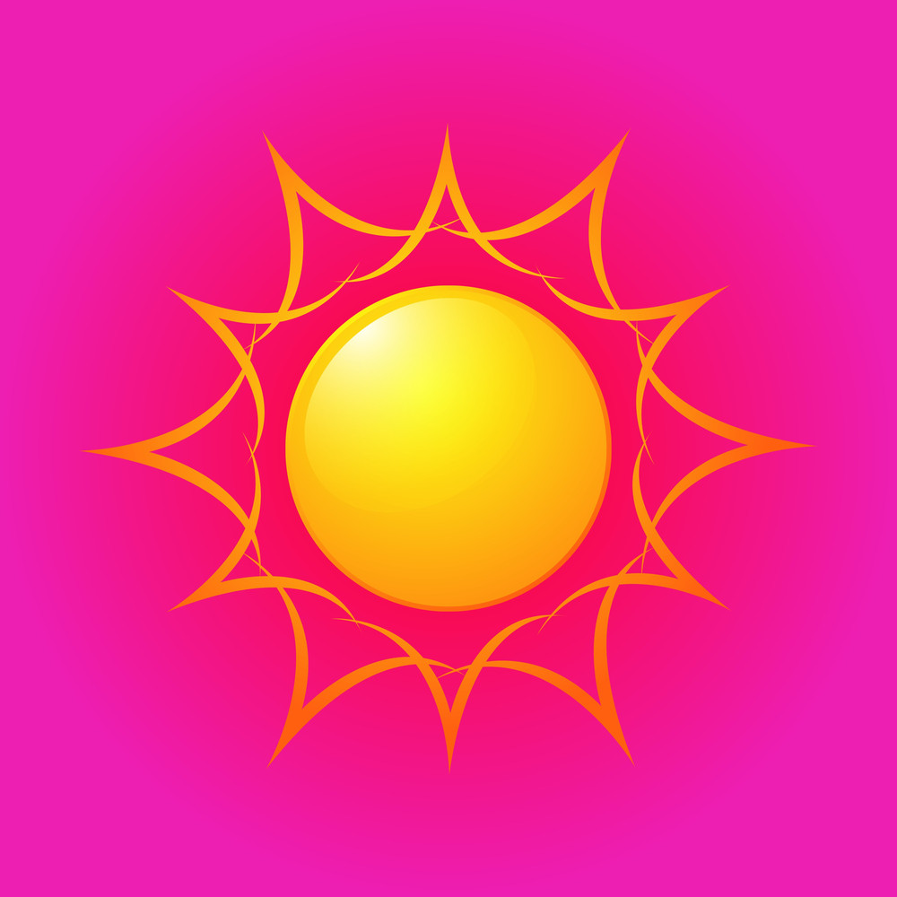 Bright Sun Icon Design