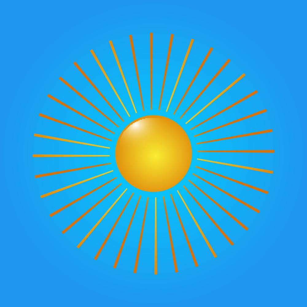 Bright Sun Vector Element