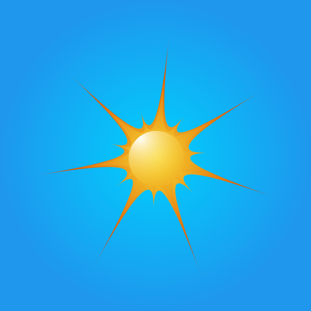 Bright Sun Vector Icon