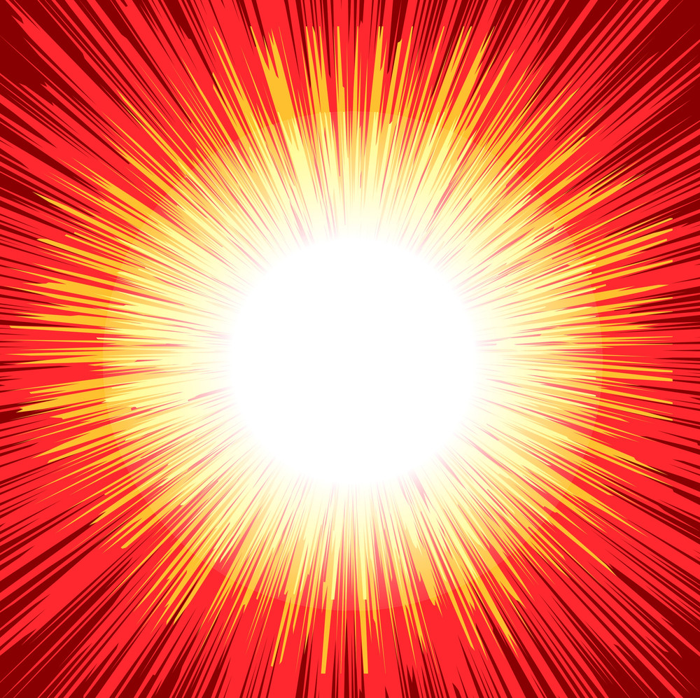Bright Sunburst Graphic Background