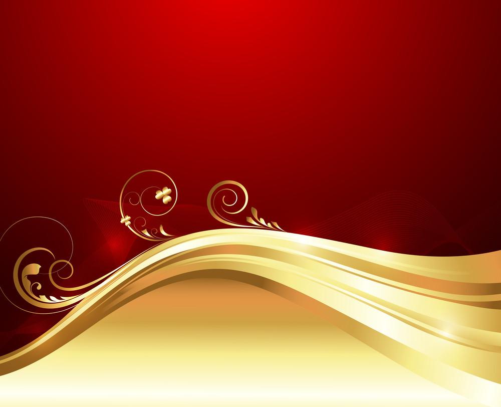 Bright Swirl Golden Floral Design