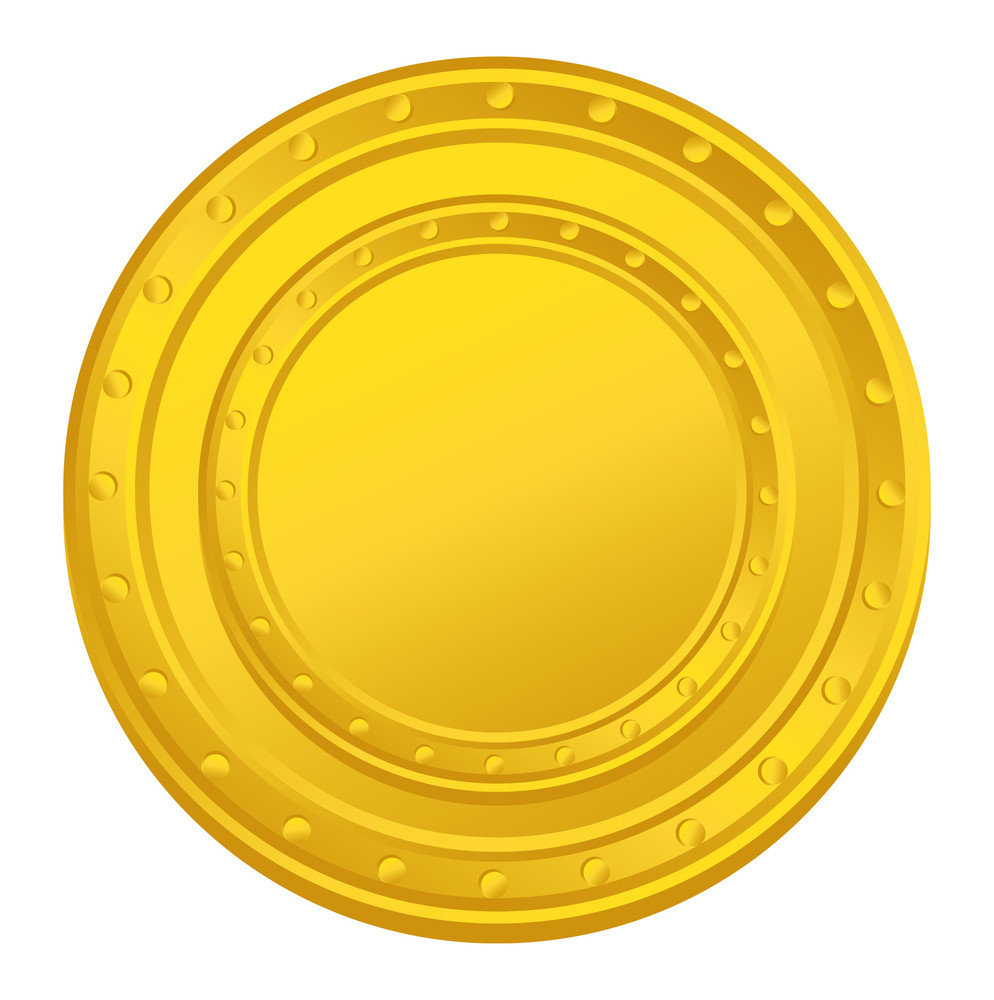 Bright Yellow Coin