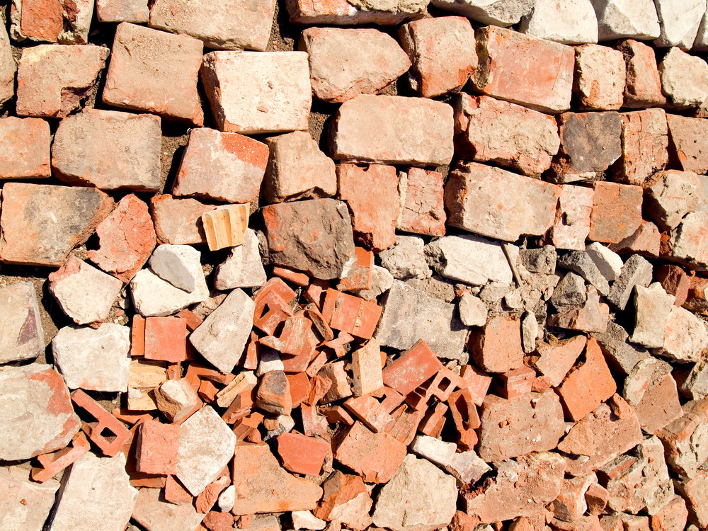 Broken Brick Texture On The Road