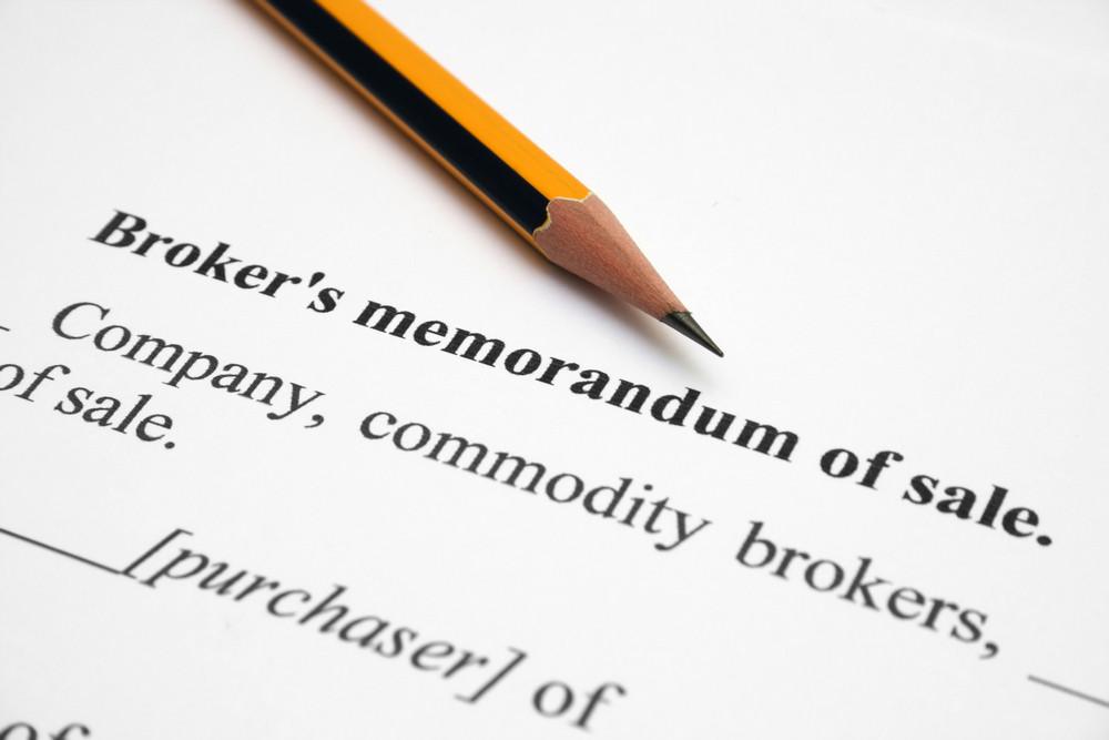 Broker Memorandum Of Sale