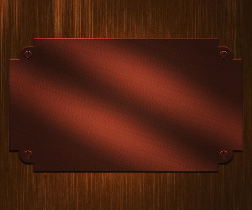 Bronze Plate Background