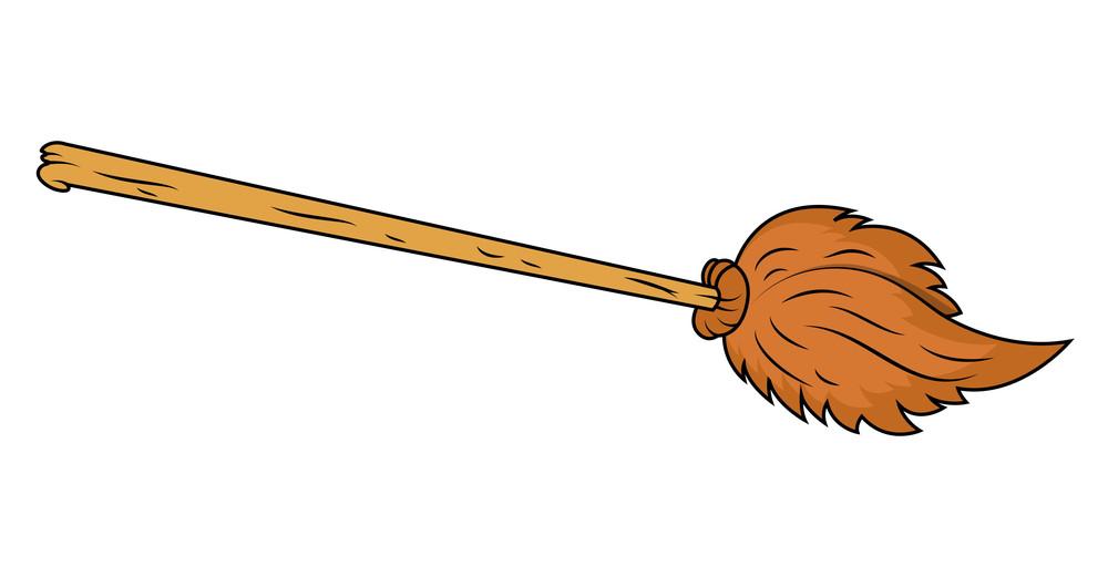 Broom Cartoon Vector