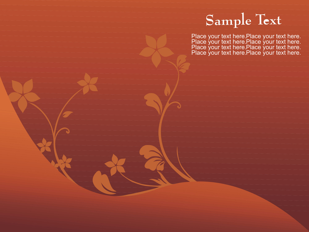 Brown Background With Artistic Design