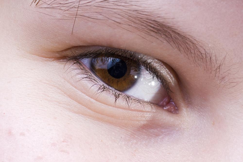 Brown Eye Close-up