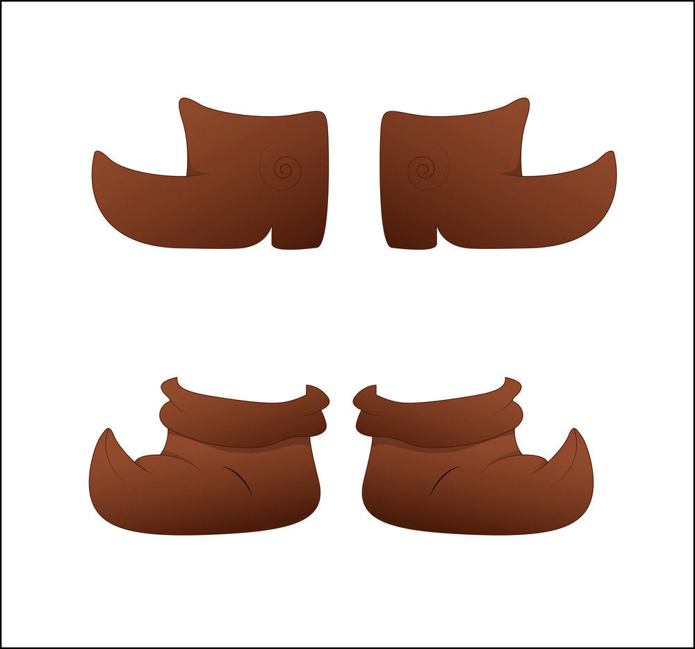 Brown Shoes Vector Designs