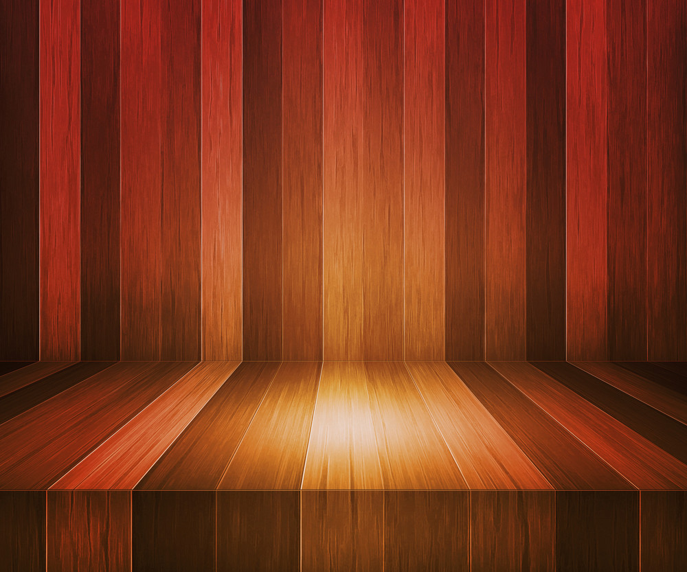 Brown Wooden Stage Background
