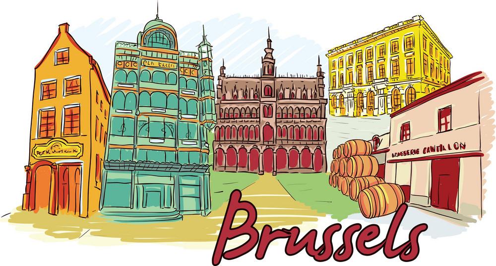 Brussels Vector Doodle