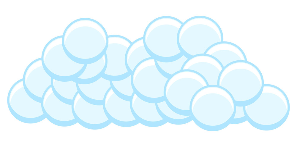 Bubbles Cloud Vector
