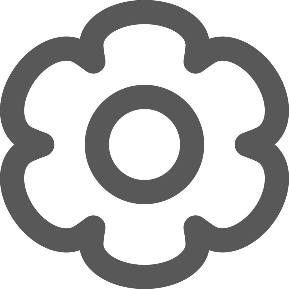 Bubbly Gear Stroke Icon