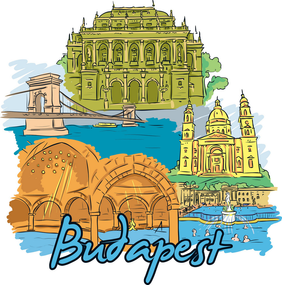 Budapest Vector Doodle