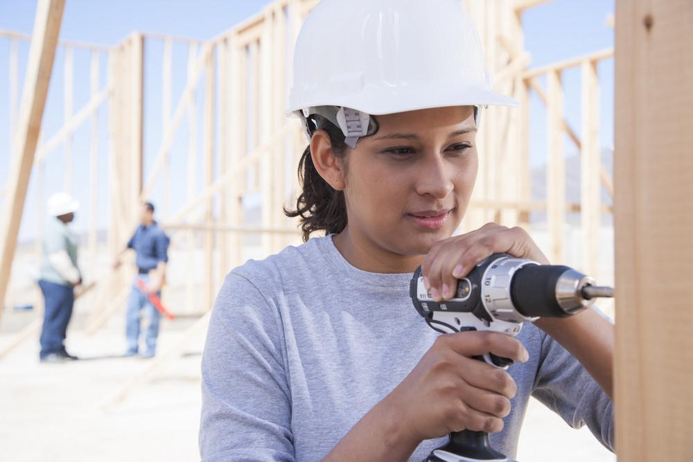 Builder constructing a home