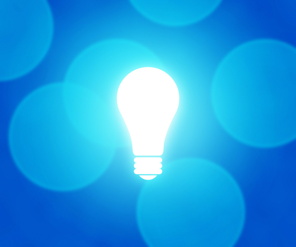 Bulb Blue Background