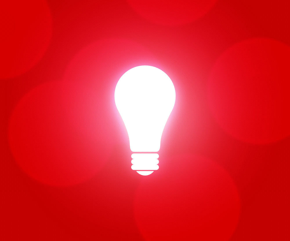 Bulb Red Background